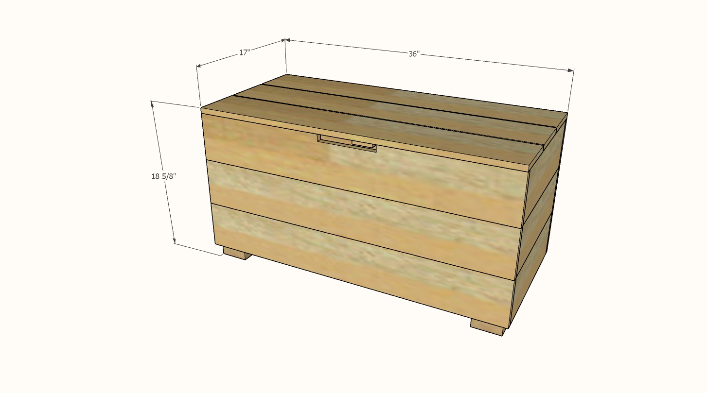 outdoor storage bench dimensions