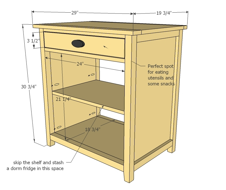 Ana White Channing Snack Cabinet Diy Projects