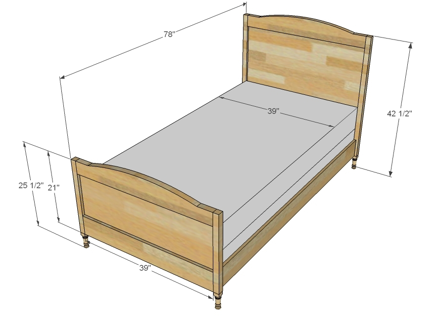 Twin bed size Size of standard twin mattress