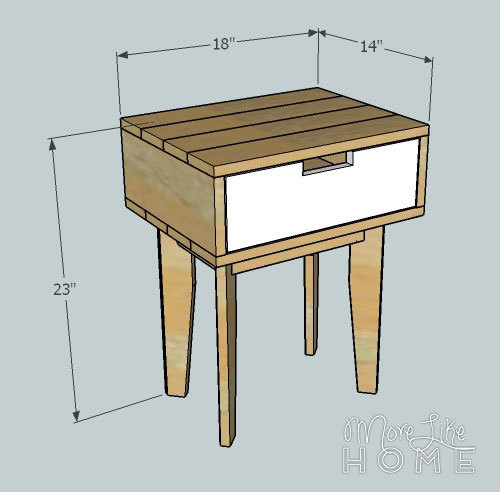 Tapered Leg Nightstand by More Like Home