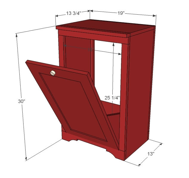 Tilt Out Trash Can Cabinet Plans Woodideas