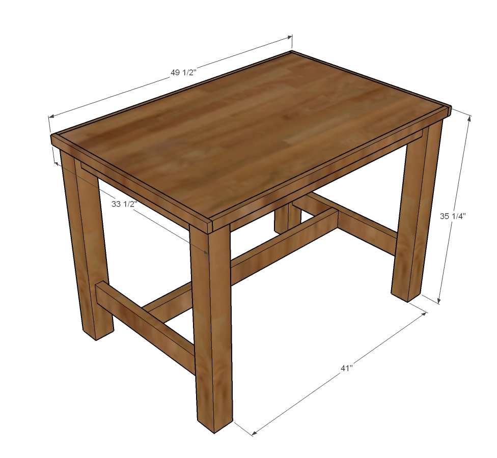 Counter Height Farmhouse Table For Four Ana White