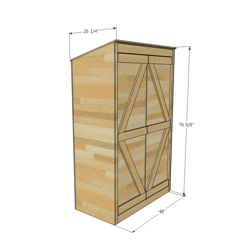 Ana White | Small Outdoor Shed Or Closet Converted Into Smokehouse   DIY  Projects
