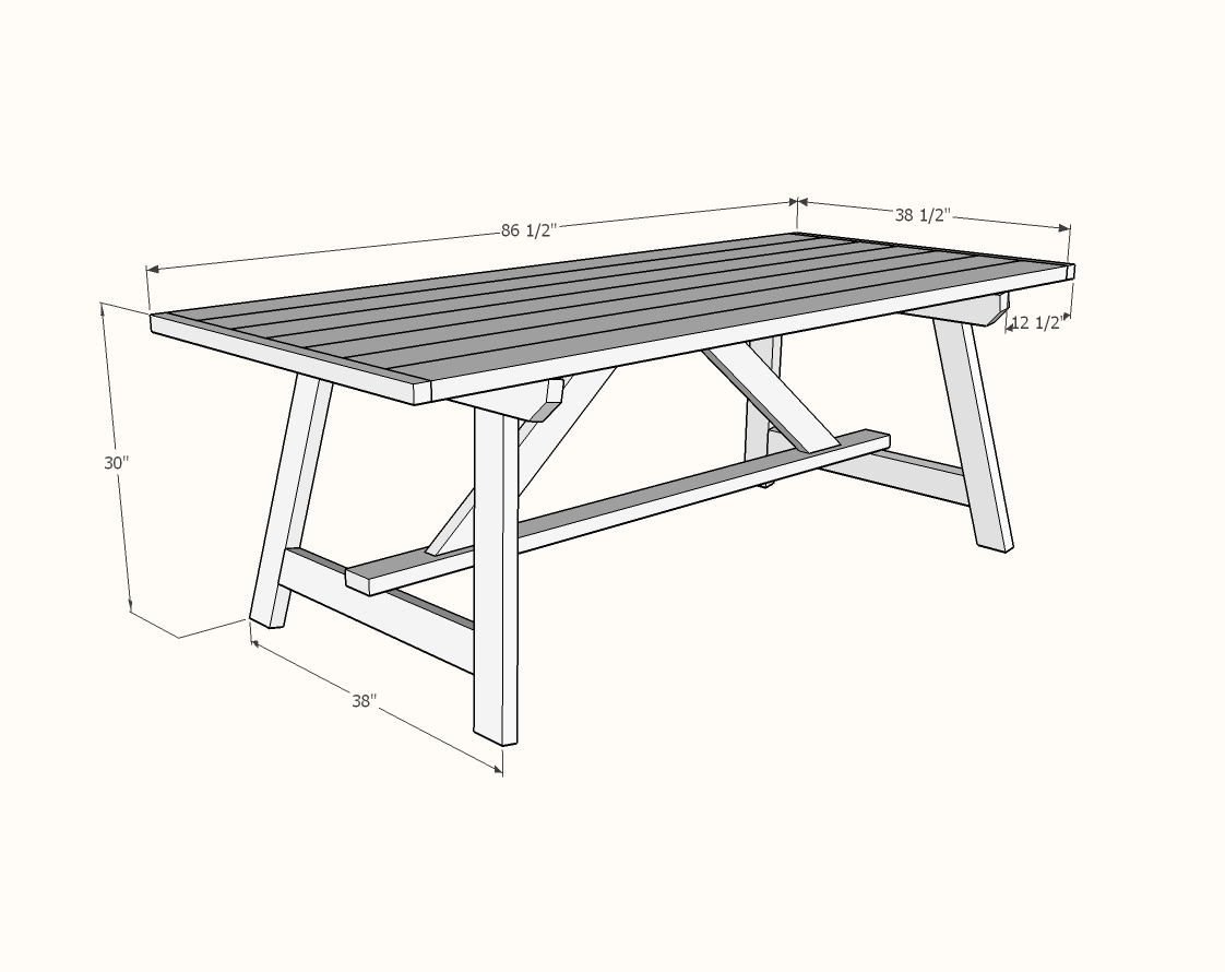 Ana White 2x4 Truss Table For Alaska Lake Cabin Diy