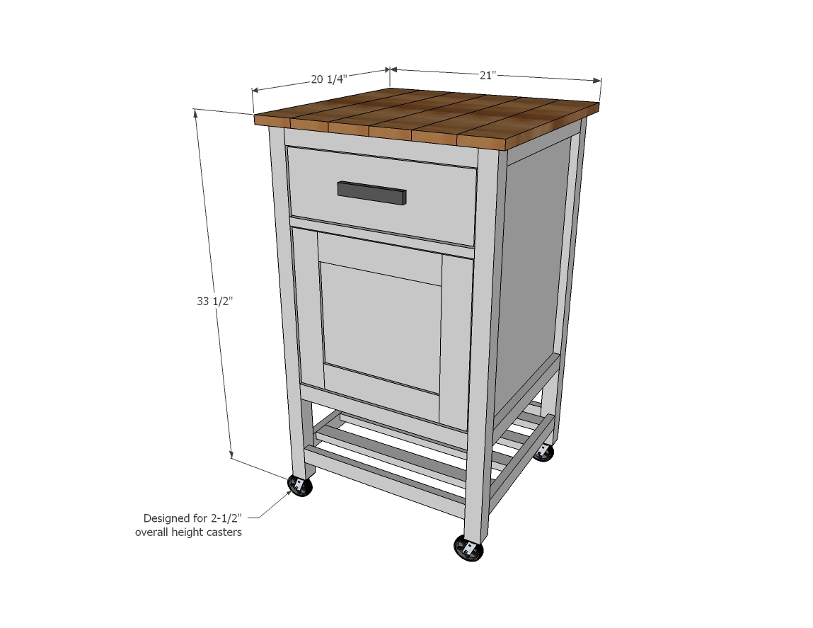 Standard Kitchen Island Dimensions ana white | how to: small kitchen island prep cart with compost