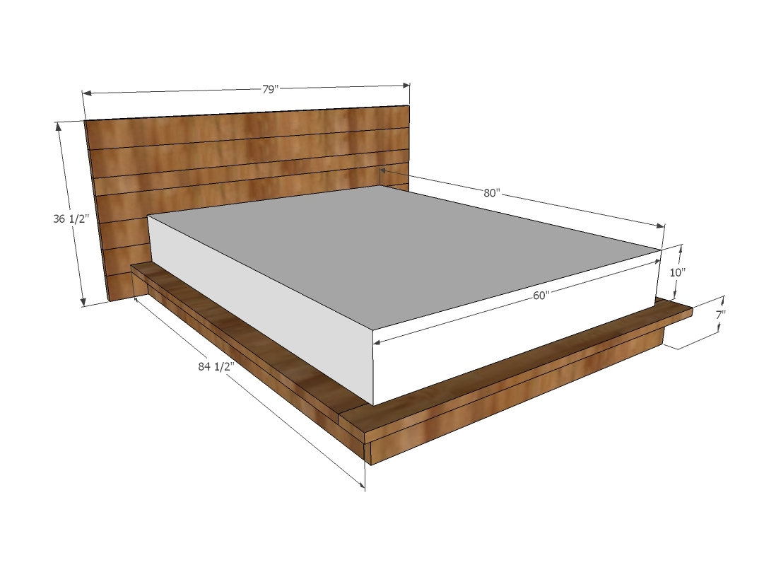 ana white rustic modern 2x6 platform bed diy projects. Black Bedroom Furniture Sets. Home Design Ideas