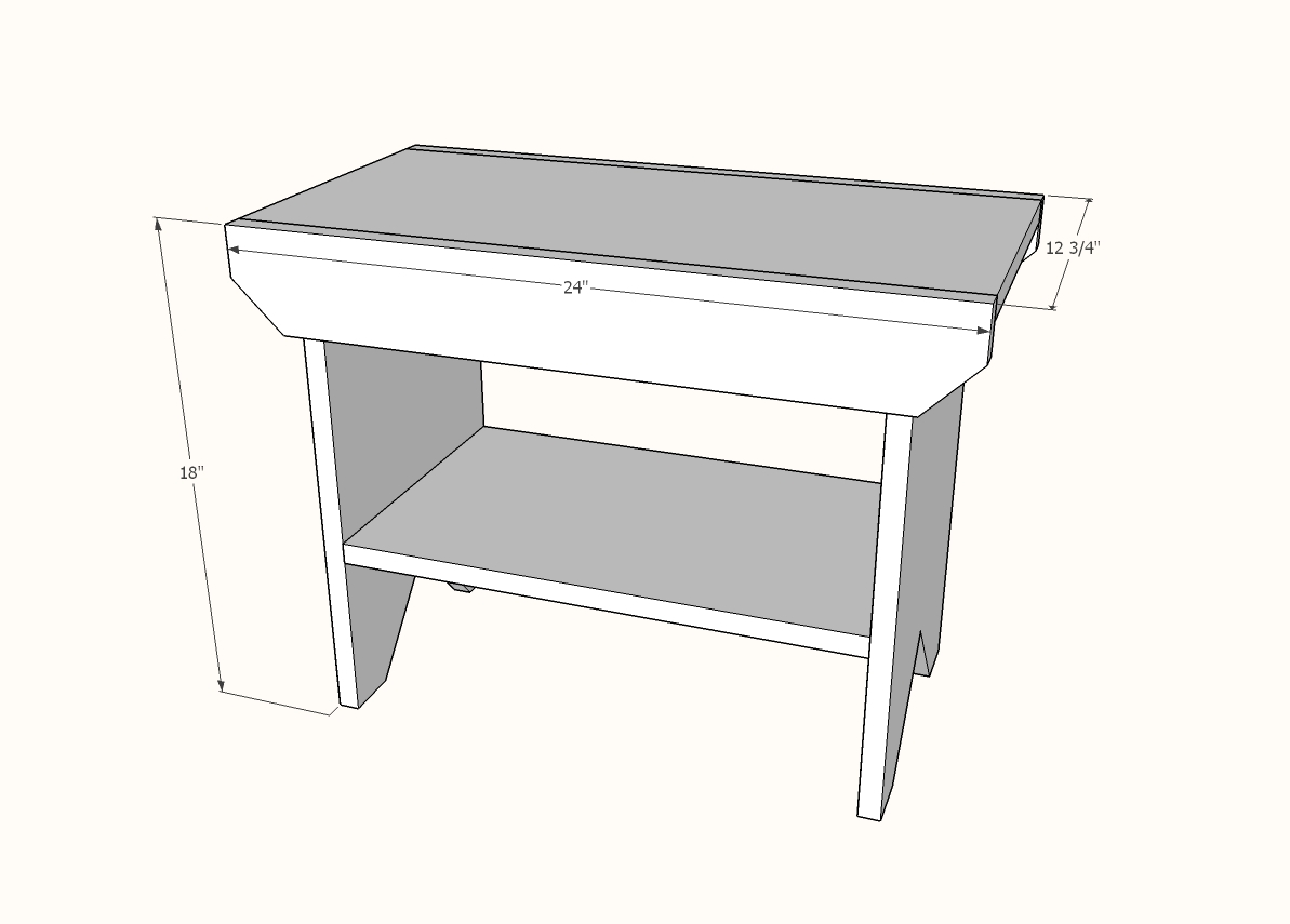 Bedroom bench dimensions - Dimensions