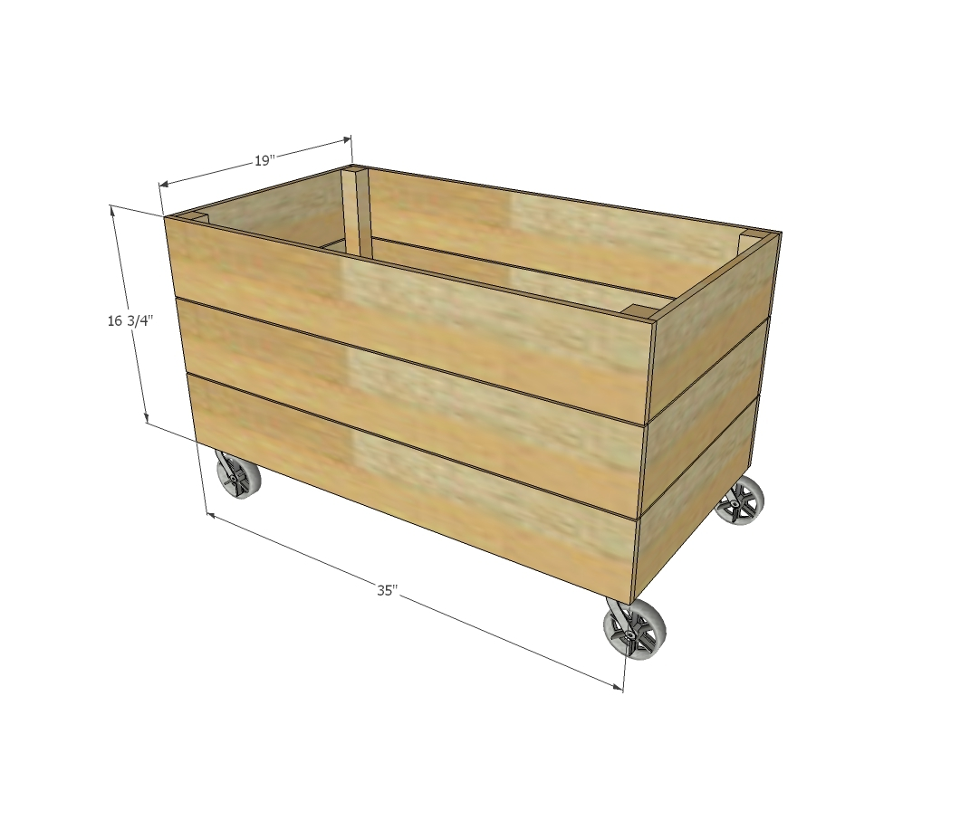 Dimensions for this wooden toy box shown above, overall size is ...