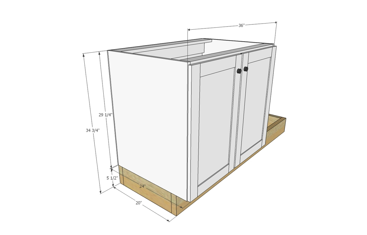 kitchen furniture plans. Ana White | Euro Style Kitchen Sink Base Cabinet For Our Tiny House  - DIY Projects Kitchen Furniture Plans