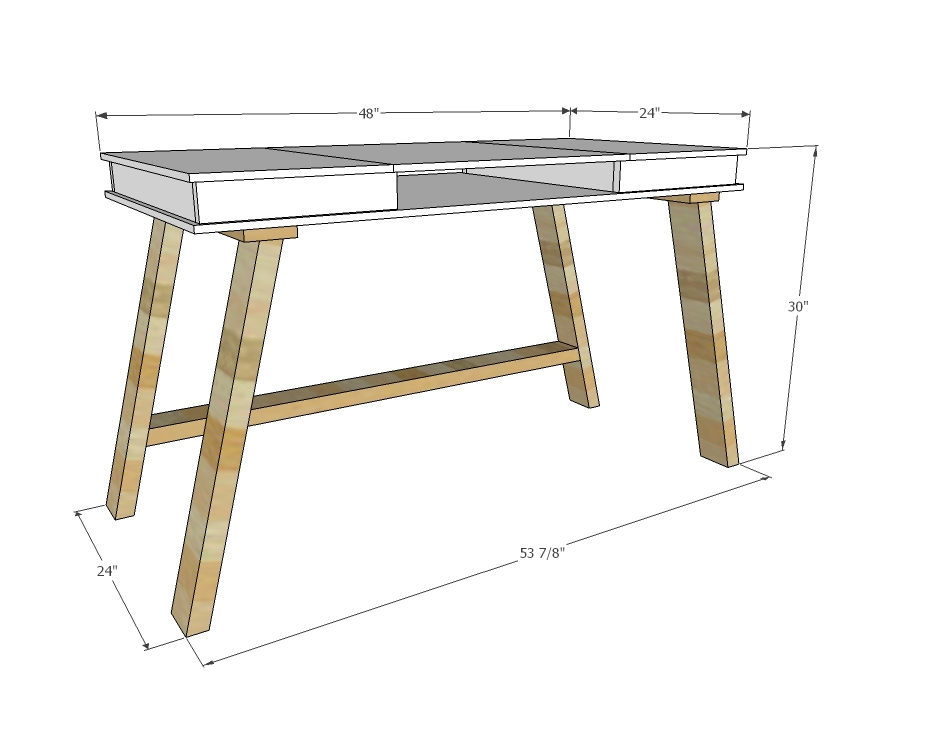 ana white easy 2x4 base build your own desk collection diy