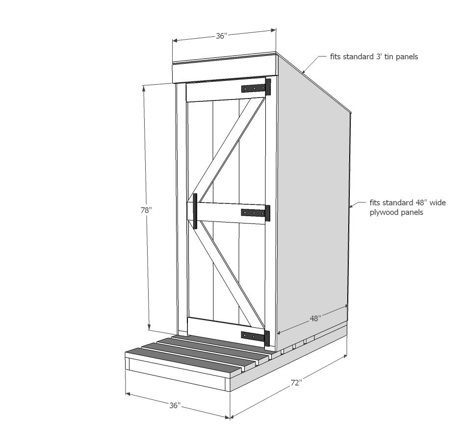 simple outhouse   ana white  ana white