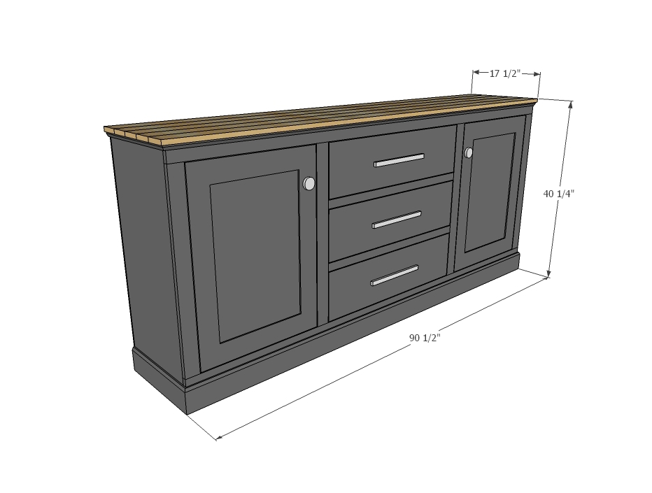Download diy buffet cabinet plans plans free for Cabinet planner free