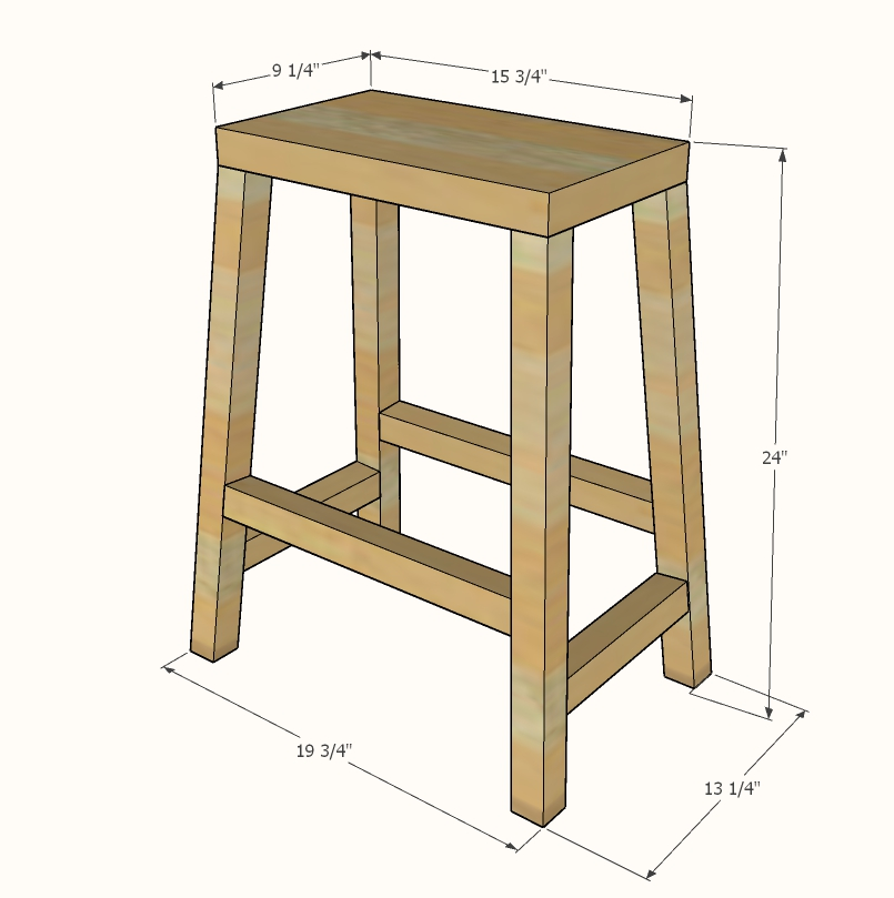 farmhouse counter height stool dimensions