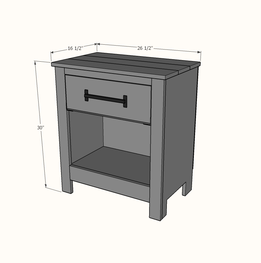 dimensions of nightstand