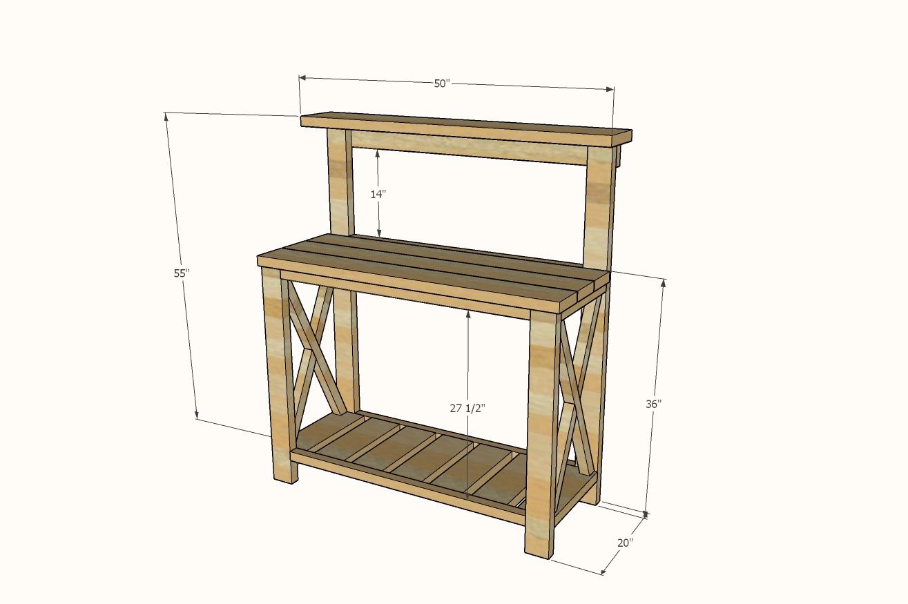Potting bench dimensions