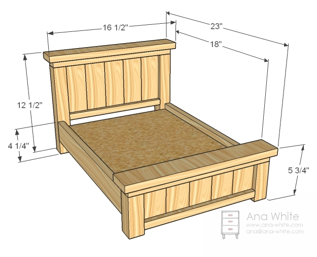 Farmhouse Doll Bed dimensions ana white plans