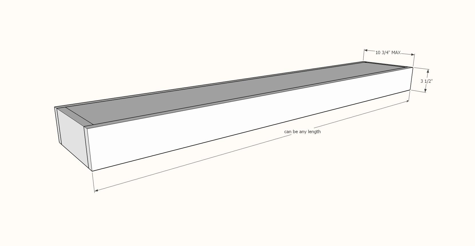 floating shelf dimensions