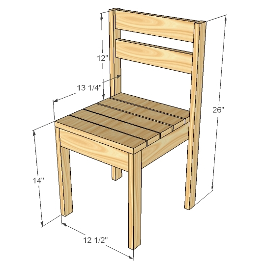 Ana White Four Dollar Stackable Childrens Chairs DIY