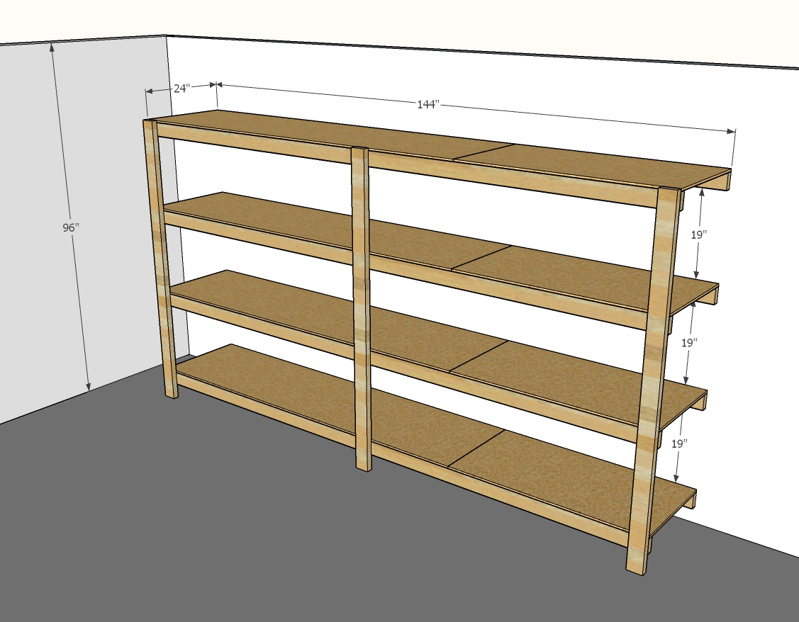 garage shelving plans step 1