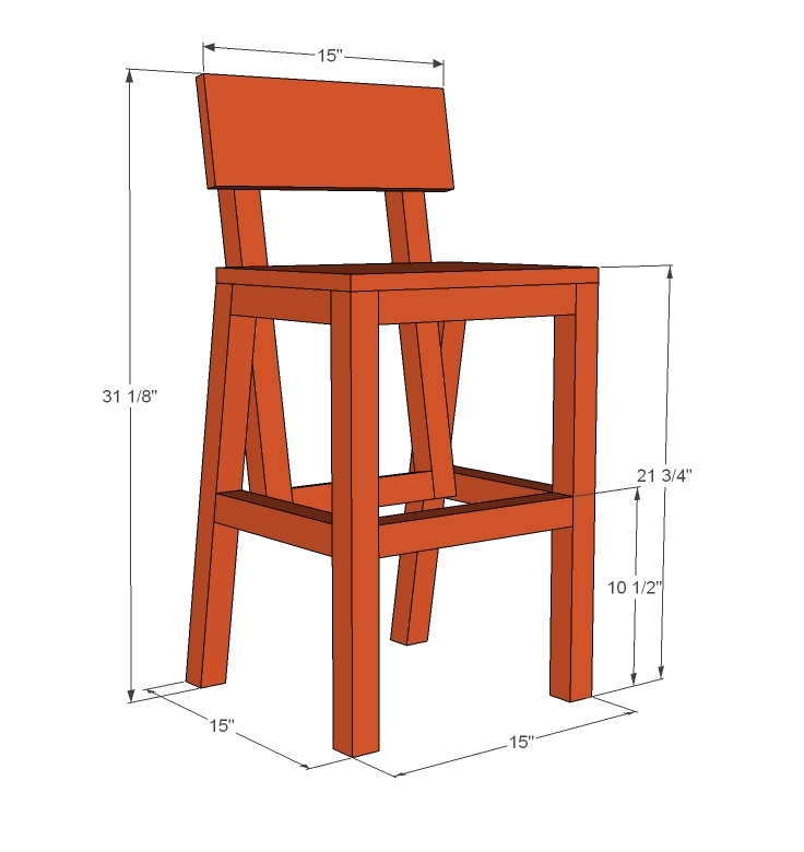 Ana White Harriet Higher Chair Diy Projects