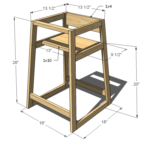 wood high chair plans free