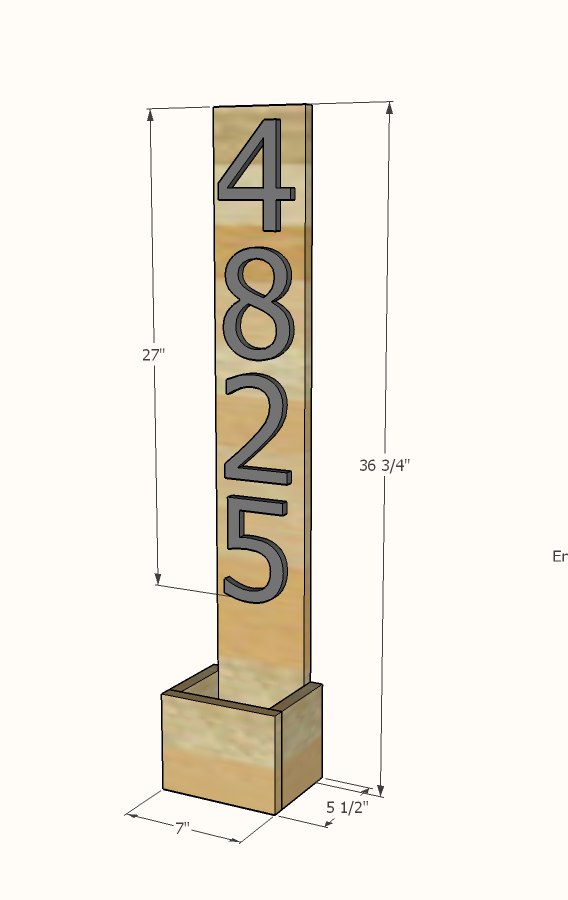 Ana White House Numbers Vertical Planter From Cedar