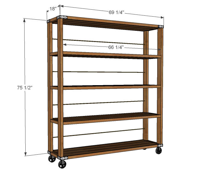 build wooden storage shelves garage