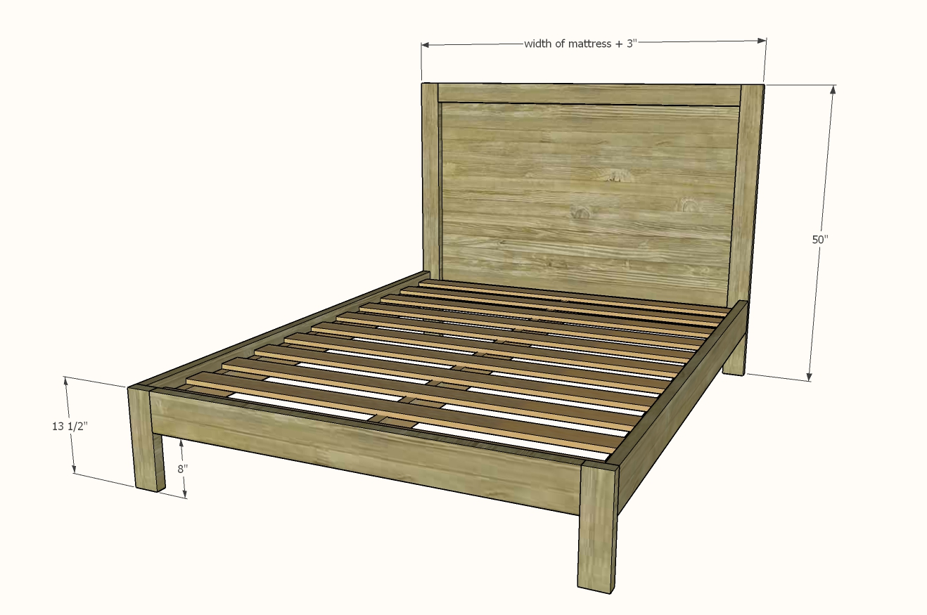 queen bed frame dimensions