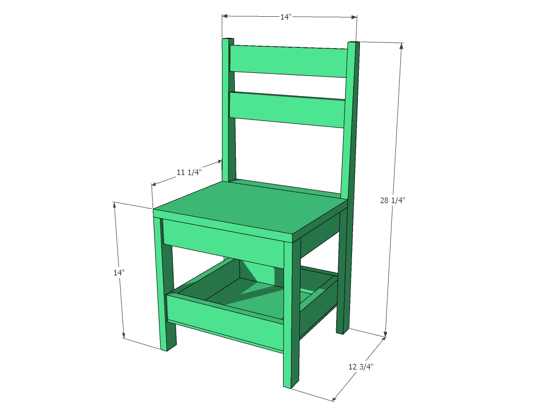 kids chair dimensions