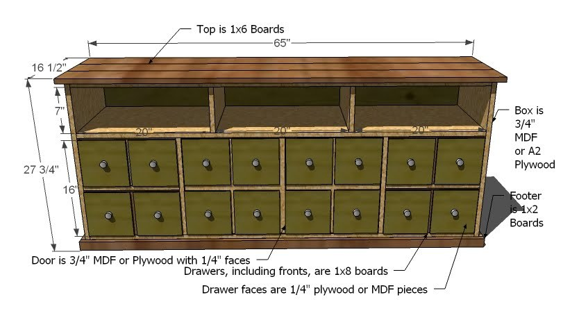 Ana White Apothecary Console DIY Projects - Apothecary cabinet