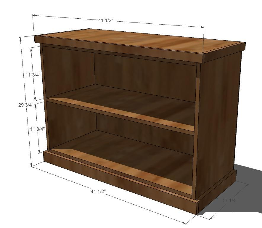 Ana white build your own office wide bookcase base How deep should a bookshelf be