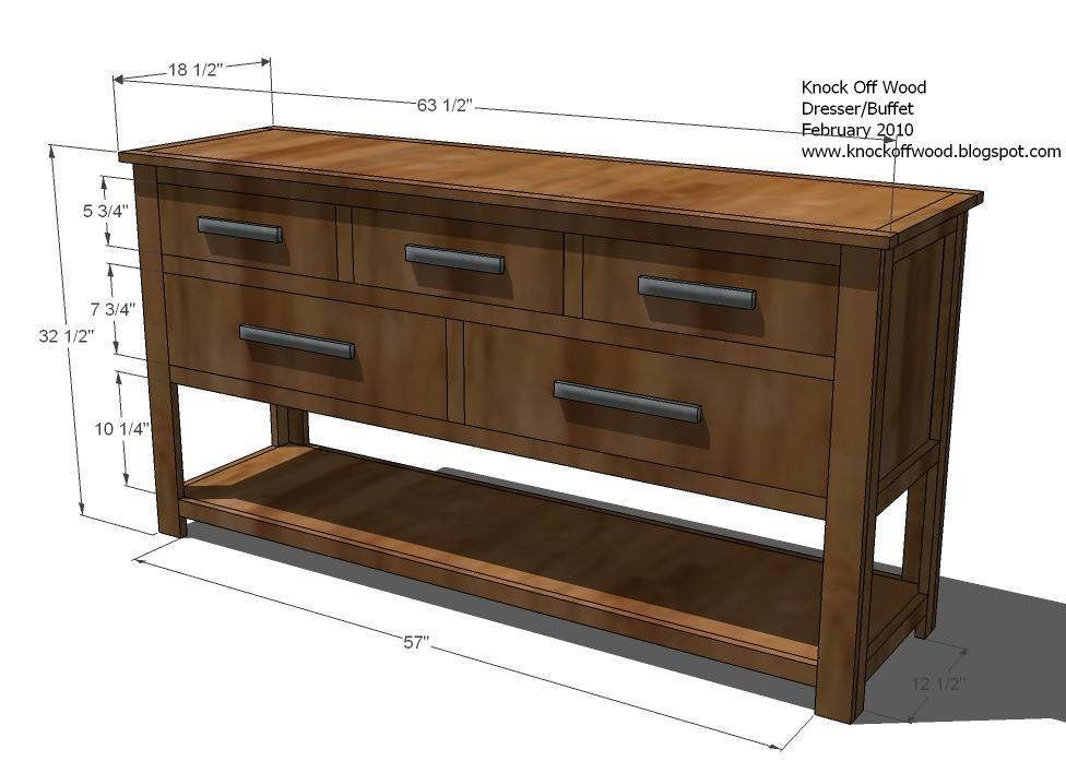 Dresser Dimensions ana white | dresser with open bottom shelf - diy projects