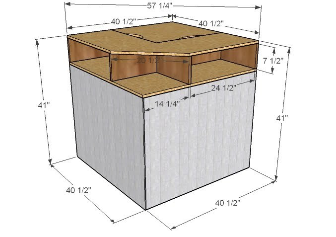 dimensions diagram for corner unit for beds