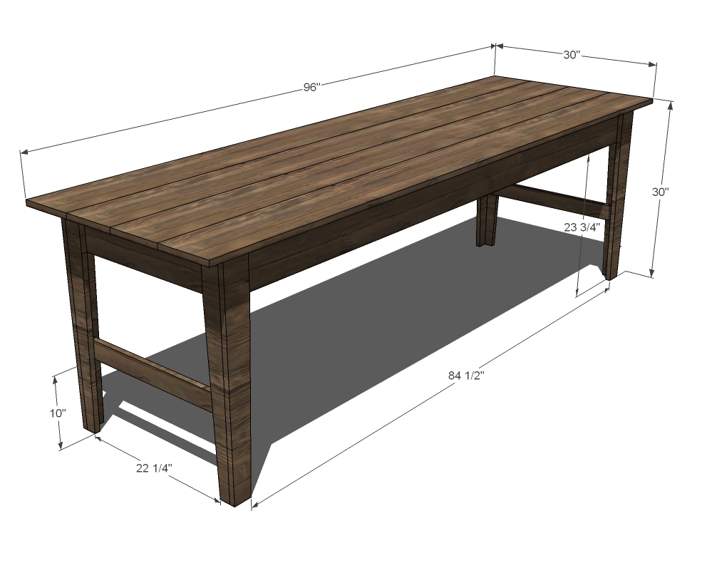 narrow farm table plans diy free download wood duck cross