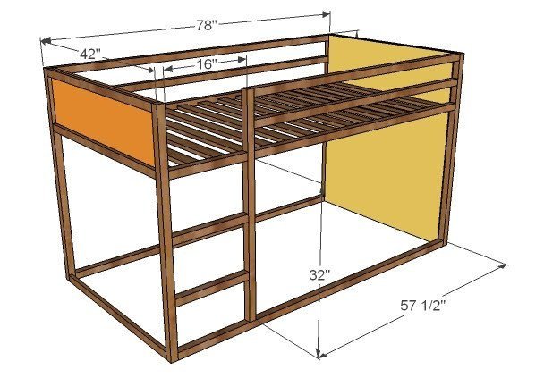 Wood Loft Bed Plans Free | Dog Breeds Picture