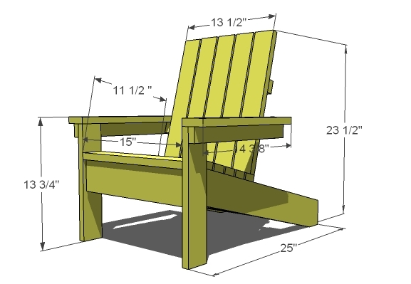 Ana white how to build a super easy little adirondack - Fauteuil de jardin adirondack ...