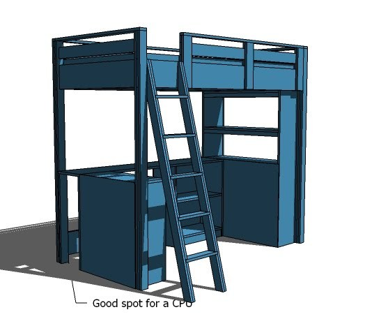an error occurred - Free Loft Bed With Desk Plans