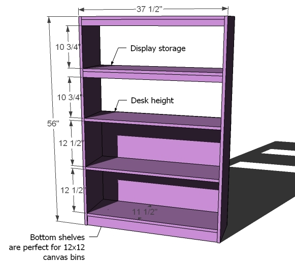 ... What Goes Under the Loft Bed? How About a BIG Bookcase? - DIY Projects