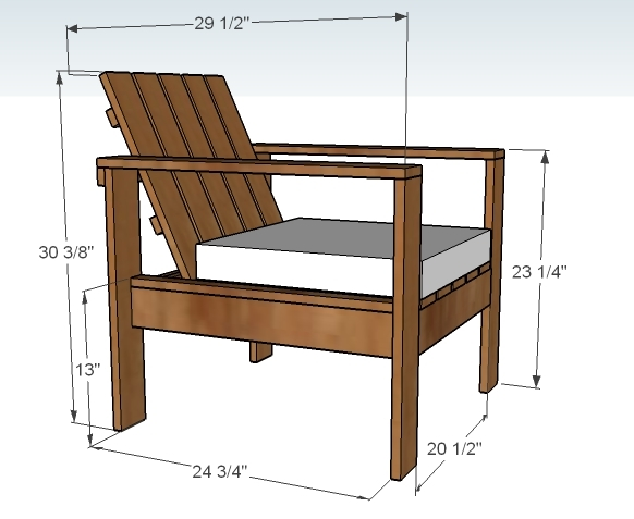 Ana white simple outdoor lounge chair diy projects for Chair design basics