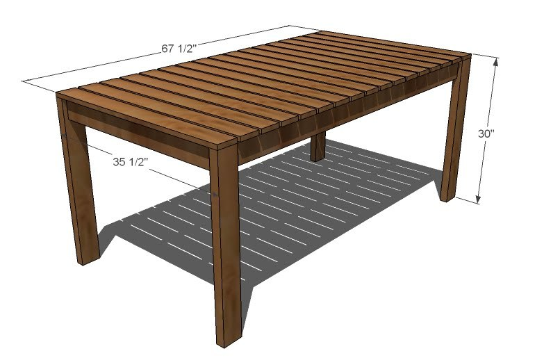 Outdoor Wood Dining Furniture ana white | simple outdoor dining table - diy projects