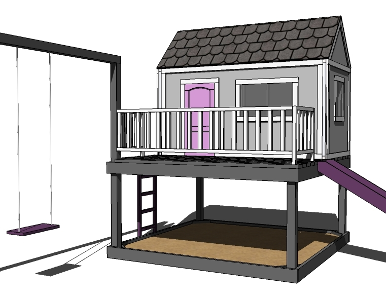 Pdf free play house plans plans free for Free playhouse blueprints