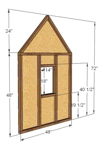 dimensions for playhouse end walls