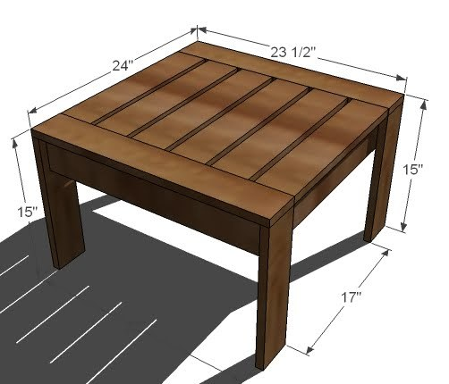 Cedar Ottoman Plans ~ Ana white ottoman or accent table for simple modern