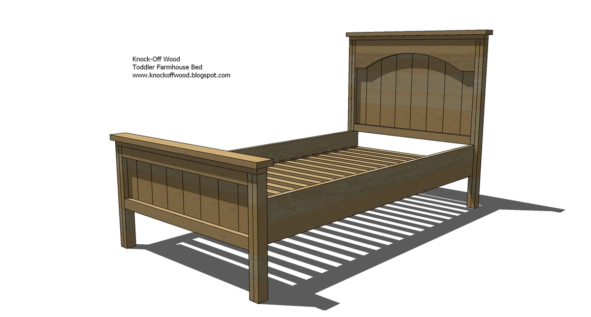 Ana white toddler farmhouse bed diy projects for Farmhouse bed plans