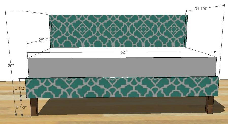 Favorite Ana White | Toddler Upholstered Bed - DIY Projects YV99