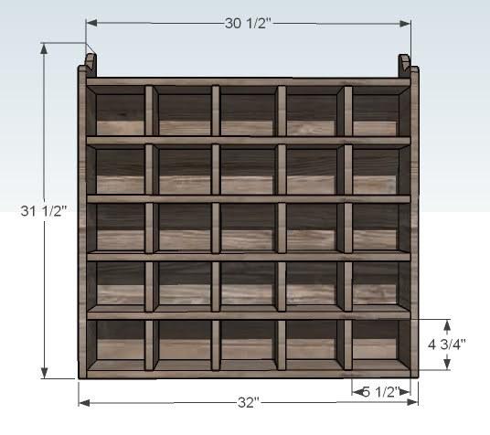 Plans To Build Shoe Storage Cubby PDF