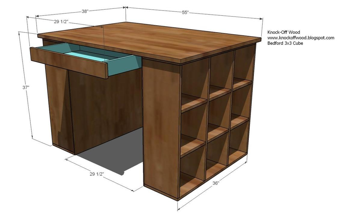 Build wooden craft desk plans plans download corrugated for Table design for project