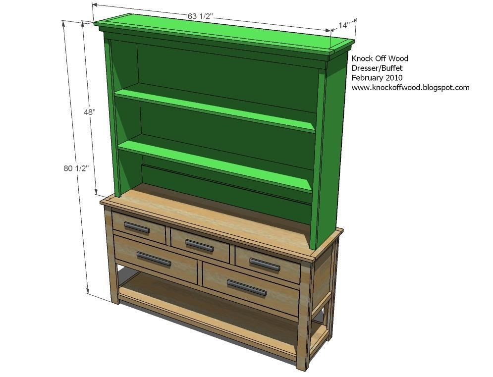 Hutch For The Open Shelf Dresser - DIY Projects