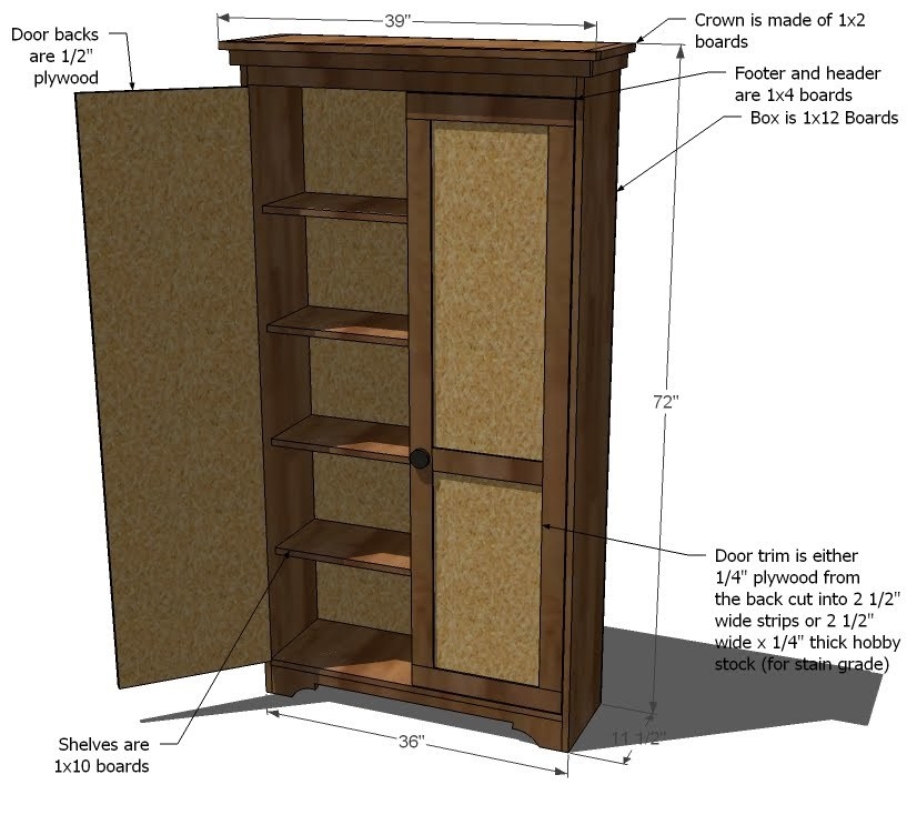 Woodwork armoire plans to build pdf plans for Wardrobe cabinet design woodworking plans