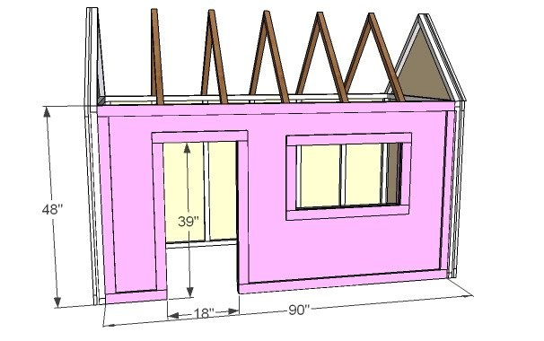 Ana White Build A Playhouse Front Wall Options And